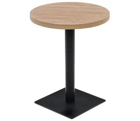 vidaXL Bistro staliukas, MDF ir plienas, apvalus, 60x75cm, ąžuol. sp.[1/6]