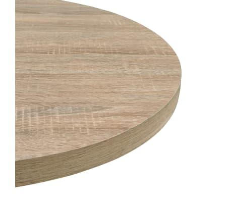 vidaXL Bistro miza mediapan in jeklo okrogla 60x75 cm barva hrasta[4/6]