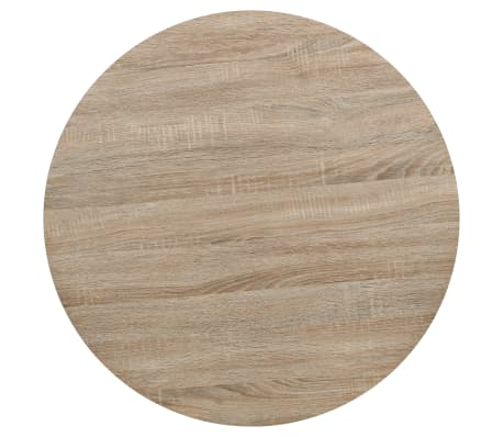 vidaXL Bistro staliukas, MDF ir plienas, apvalus, 80x75cm, ąžuolo sp.[3/6]