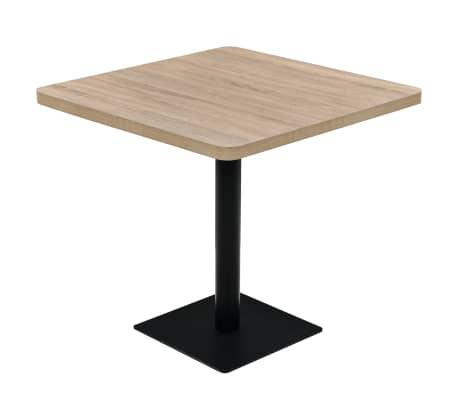 vidaXL Bistro staliukas, MDF ir plienas, kvadr., 80x80x75cm, ąžuol.sp.[1/6]