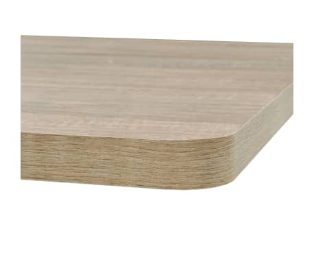 vidaXL Bistro staliukas, MDF ir plienas, kvadr., 80x80x75cm, ąžuol.sp.[4/6]