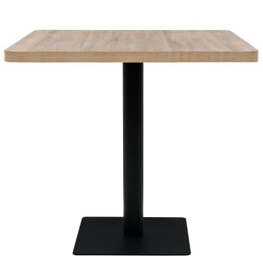 vidaXL Bistro staliukas, MDF ir plienas, kvadr., 80x80x75cm, ąžuol.sp.[2/6]