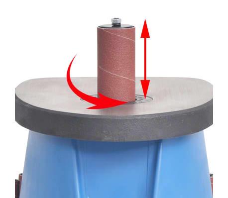 vidaXL Ponceuse à axe oscillant 450 W Bleu[6/8]