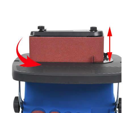 vidaXL Ponceuse à bande et à axe oscillant 450 W Bleu[5/8]