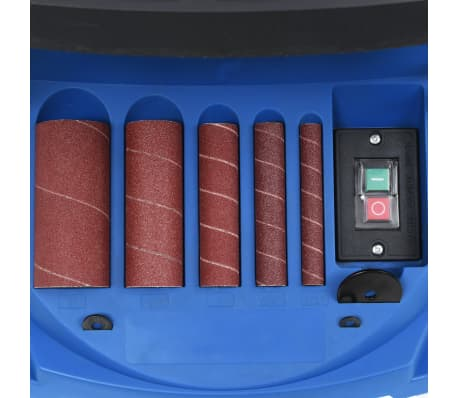 vidaXL Ponceuse à bande et à axe oscillant 450 W Bleu[8/8]