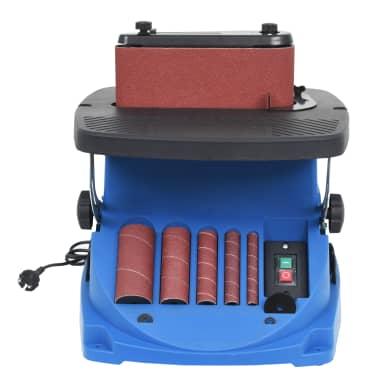 vidaXL Ponceuse à bande et à axe oscillant 450 W Bleu[3/8]