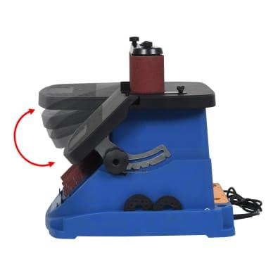 vidaXL Ponceuse à bande et à axe oscillant 450 W Bleu[4/8]