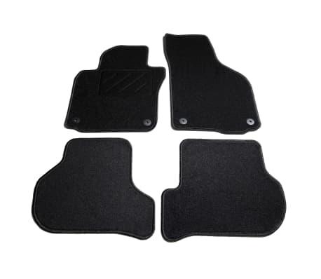 vidaXL Ensemble de tapis de voiture 4 pcs pour VW Golf 5/6 Scirocco