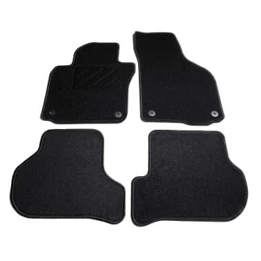 vidaXL Ensemble de tapis de voiture 4 pcs pour VW Golf 5/6 Scirocco[1/6]