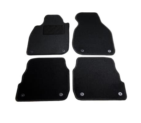 vidaXL Ensemble de tapis de voiture 4 pcs pour Audi A6[1/6]