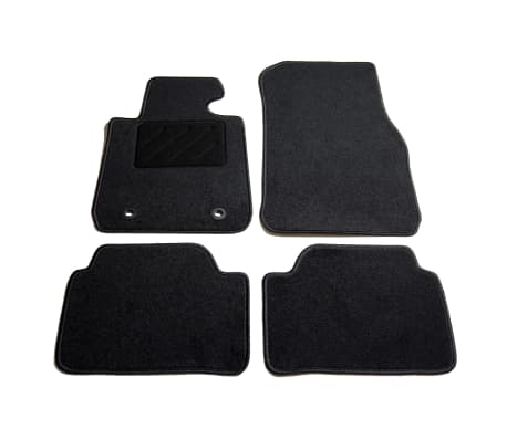 vidaXL 4 Piece Car Mat Set for BMW F20 1 Series