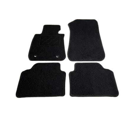 acheter vidaxl ensemble de tapis de voiture 4 pcs pour s rie 3 bmw e90 e91 pas cher. Black Bedroom Furniture Sets. Home Design Ideas
