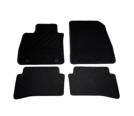 acheter vidaxl ensemble de tapis de voiture 4 pcs pour renault clio iv pas cher. Black Bedroom Furniture Sets. Home Design Ideas