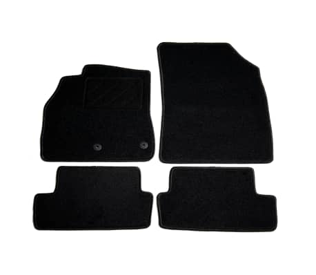 acheter vidaxl ensemble de tapis de voiture 4pcs pour renault megane iii coup pas cher. Black Bedroom Furniture Sets. Home Design Ideas