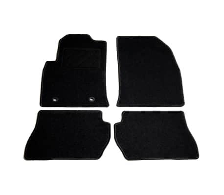 vidaXL Ensemble de tapis de voiture 4 pcs pour Ford Fiesta V
