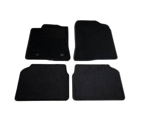 vidaXL Ensemble de tapis de voiture 4 pcs pour Toyota Avensis