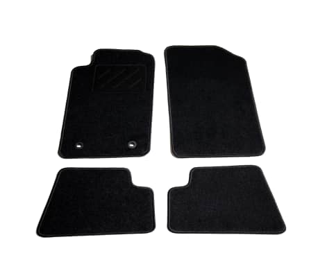 vidaxl ensemble de tapis de voiture 4 pcs pour peugeot 206 cc. Black Bedroom Furniture Sets. Home Design Ideas