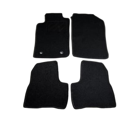 acheter vidaxl ensemble de tapis de voiture 4 pcs pour peugeot 206 sw pas cher. Black Bedroom Furniture Sets. Home Design Ideas