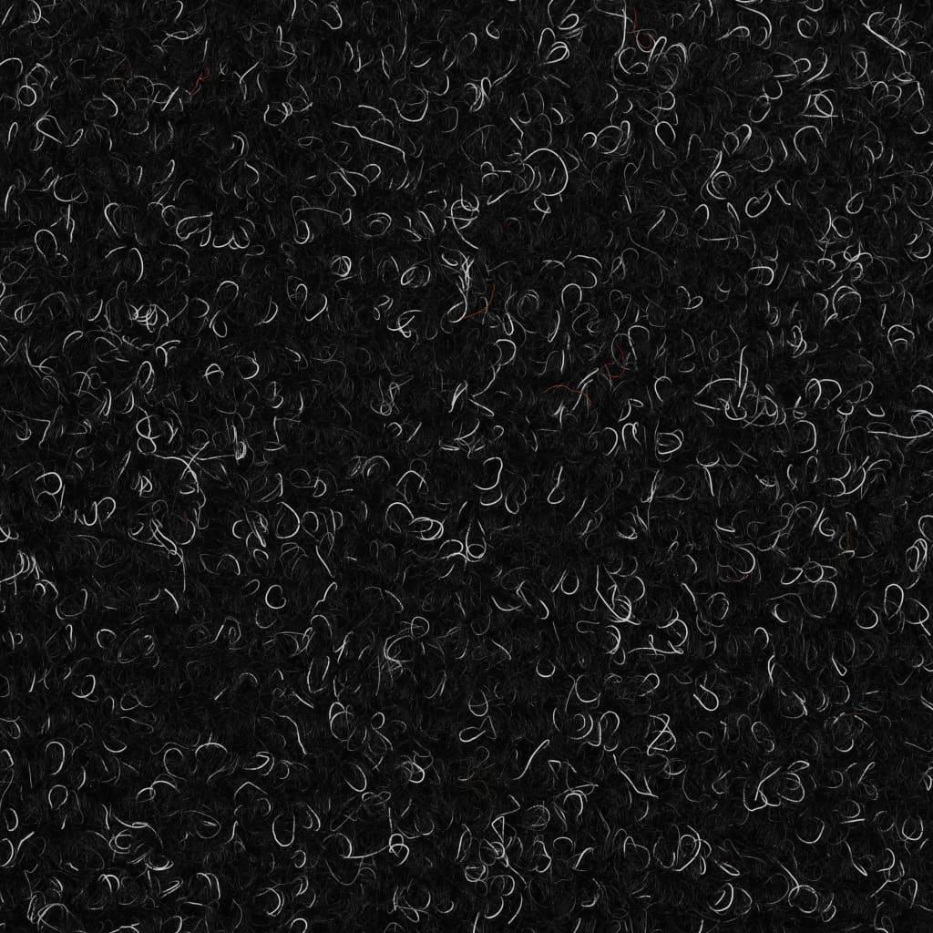 Trapmatten zelfklevend 65x21x4 cm naaldvilt zwart 15 st