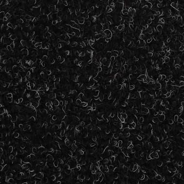 vidaXL Selvklebende trappematter nålestempel 15 stk 65x21x4 cm svart[6/6]