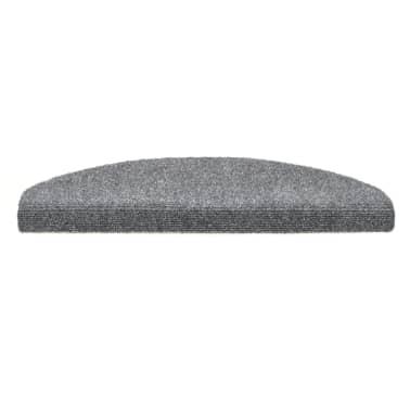 vidaXL selvklæbende trappemåtter 15 stk. nålenagle 65 x 21 x 4 cm lysegrå[3/6]