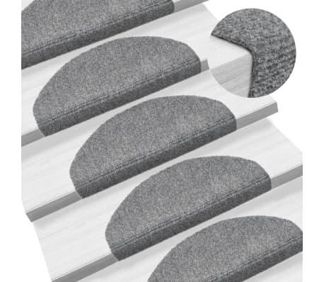 vidaXL selvklæbende trappemåtter 15 stk. nålenagle 65 x 21 x 4 cm lysegrå[1/6]