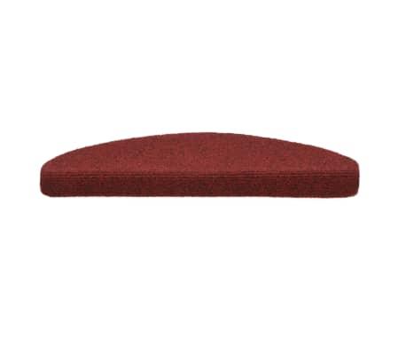 vidaXL Covorașe autocolante de scări, 15 buc, 65 x 21 x 4 cm, roșu[3/6]