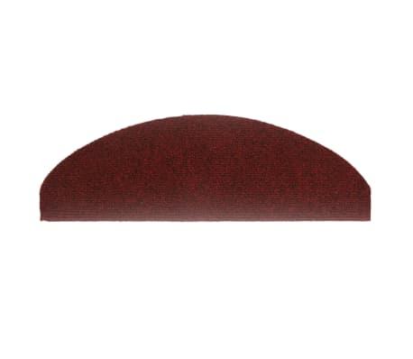 vidaXL Covorașe autocolante de scări, 15 buc, 65 x 21 x 4 cm, roșu[4/6]