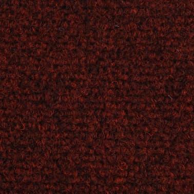 vidaXL Covorașe autocolante de scări, 15 buc, 65 x 21 x 4 cm, roșu[6/6]