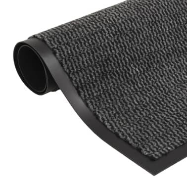 vidaXL Droogloopmat rechthoekig getuft 40x60 cm antraciet[1/4]