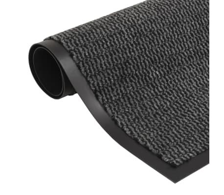 acheter vidaxl paillasson rectangulaire 60 x 90 cm anthracite pas cher. Black Bedroom Furniture Sets. Home Design Ideas