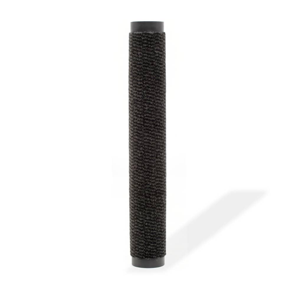 vidaXL Protiprachová obdélníková rohožka všívaná 60x90 cm černá