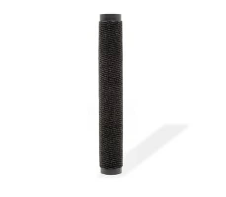 vidaXL Covor de ușă anti-praf, dreptunghiular, 60 x 90 cm, negru[2/4]