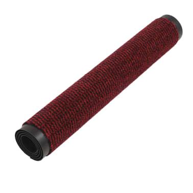 vidaXL Covor de ușă anti-praf, dreptunghiular, 60 x 90 cm, roșu[3/4]