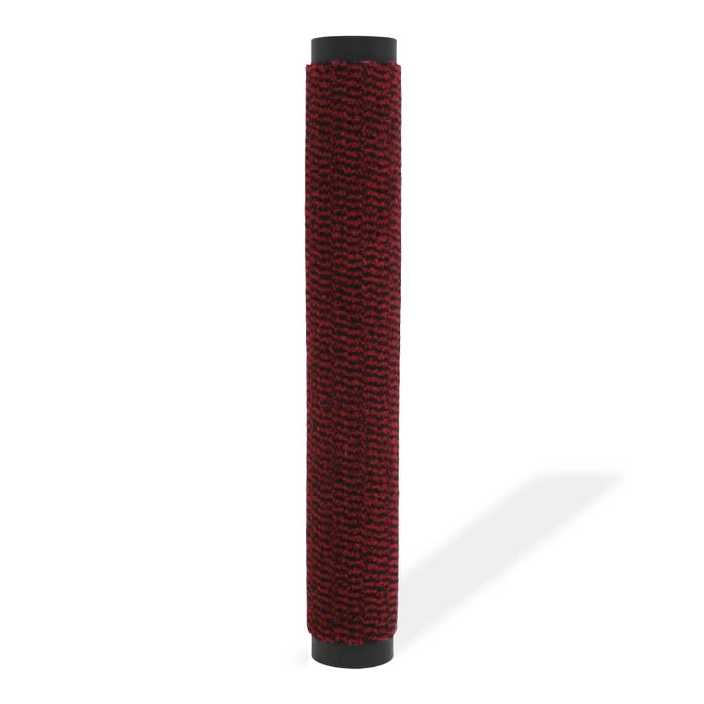 vidaXL Protiprachová obdélníková rohožka všívaná 80x120 cm červená