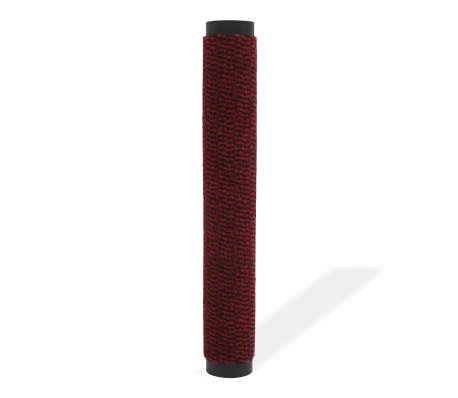 vidaXL Covor de ușă anti-praf, dreptunghiular, 80 x 120 cm, roșu[2/4]