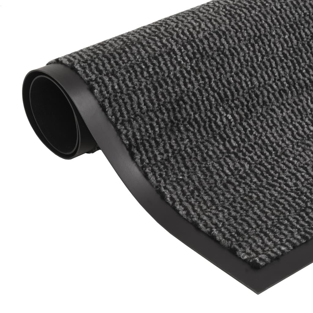 Protiprachová obdélníková rohožka všívaná 90x150 cm antracitová