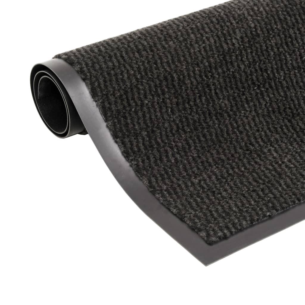 Protiprachová obdélníková rohožka všívaná 90x150cm černá