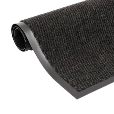 vidaXL Droogloopmat rechthoekig getuft 90x150 cm zwart[1/4]