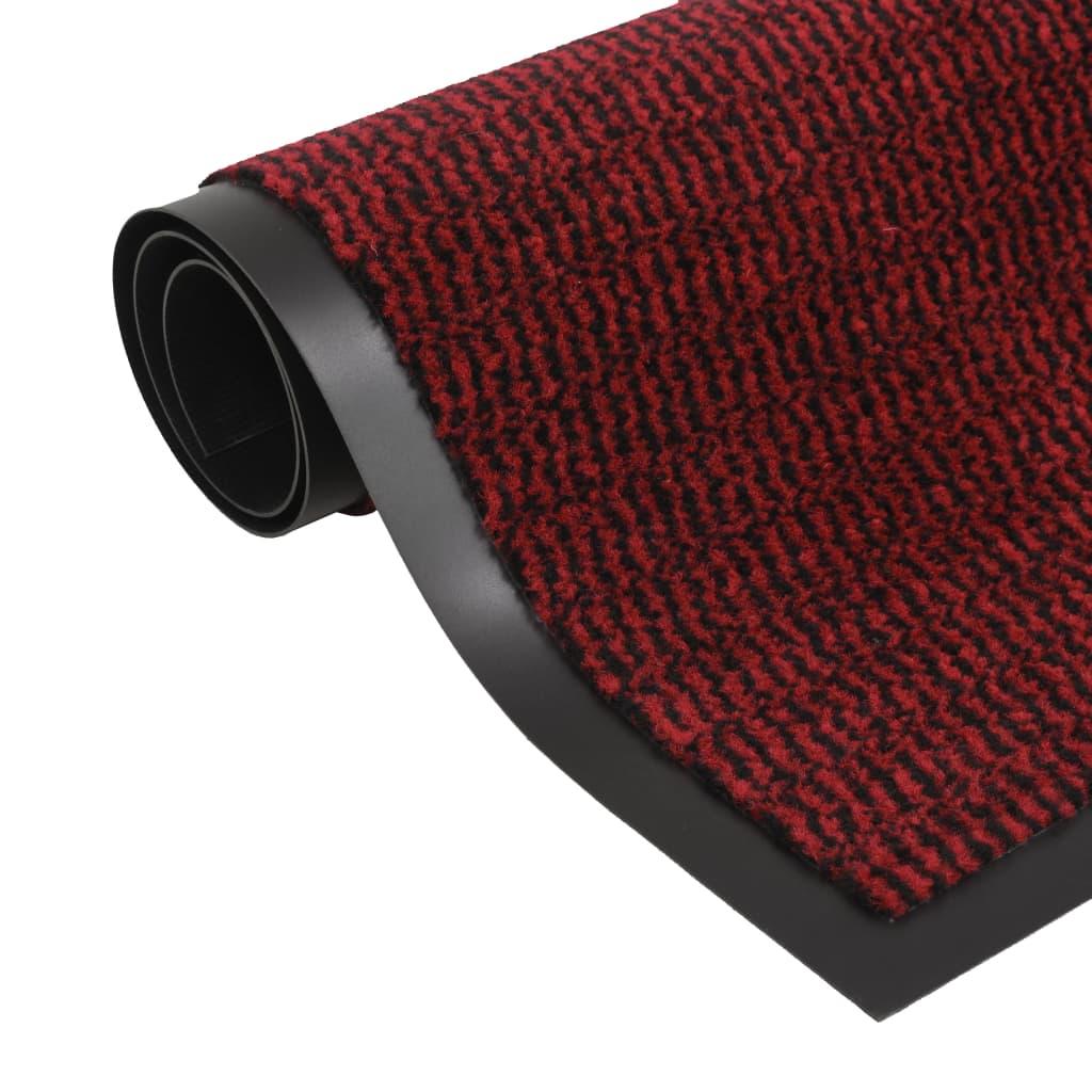 Protiprachová obdélníková rohožka všívaná 90 x 150 cm červená