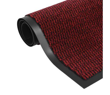 vidaXL Covor de ușă anti-praf, dreptunghiular, 90 x 150 cm, roșu[1/4]
