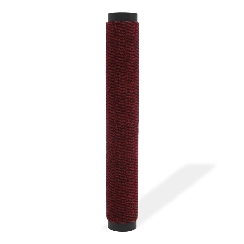 vidaXL Protiprachová obdélníková rohožka všívaná 90 x 150 cm červená