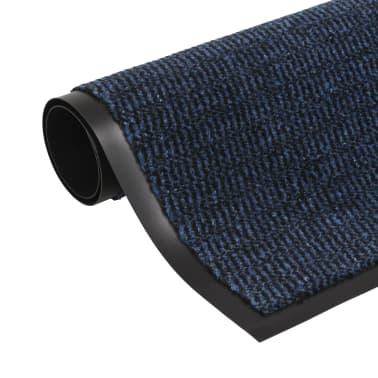 vidaXL Covor de ușă anti-praf, dreptunghiular, 90 x 150 cm, albastru[1/4]