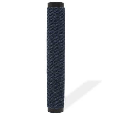 vidaXL Covor de ușă anti-praf, dreptunghiular, 90 x 150 cm, albastru[2/4]