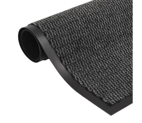 vidaXL Droogloopmat rechthoekig getuft 120x180 cm antraciet[1/4]