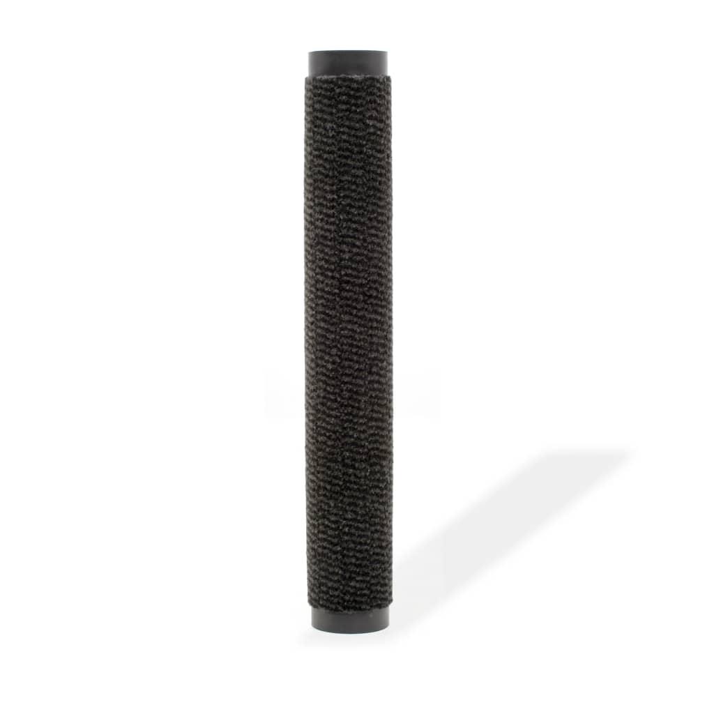 vidaXL Protiprachová obdélníková rohožka všívaná 120x180 cm černá