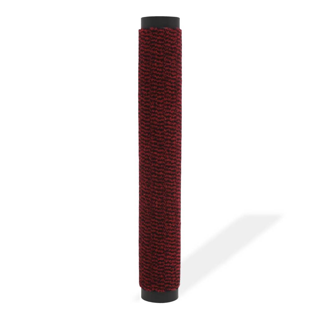 vidaXL Protiprachová obdélníková rohožka všívaná 120x180 cm červená