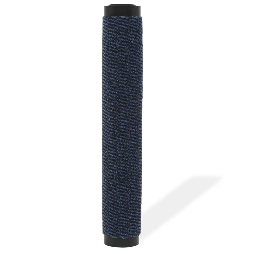 vidaXL Protiprachová obdélníková rohožka všívaná 120x180 cm modrá