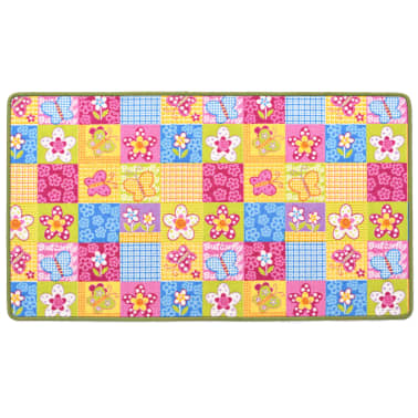 vidaXL Spielmatte Schlingenpol 67 x 120 cm Schmetterlingsmuster[3/8]
