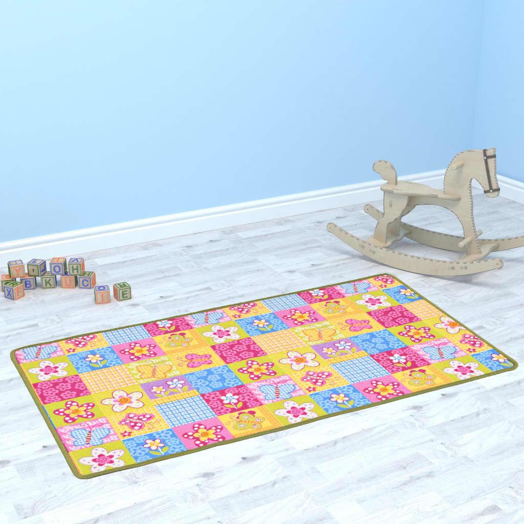vidaXL Hrací koberec smyčkový vlas 67 x 120 cm vzor motýlci